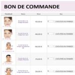 Bon de commande achat rapide produits Guinot, Pier Augé, Prestation soins visage, Massage, Brocéliande Beauté et Bien-être Mauron(56)